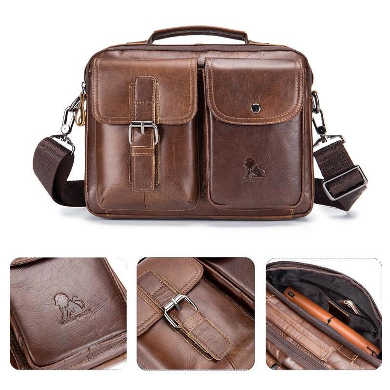 HTB1WFZEPNTpK1RjSZFKq6y2wXXaS Men Business Briefcase Vintage Genuine Leather Laptop Messenger Bag Cowhide Big Capacity Tote Office Handbag Men Briefcase