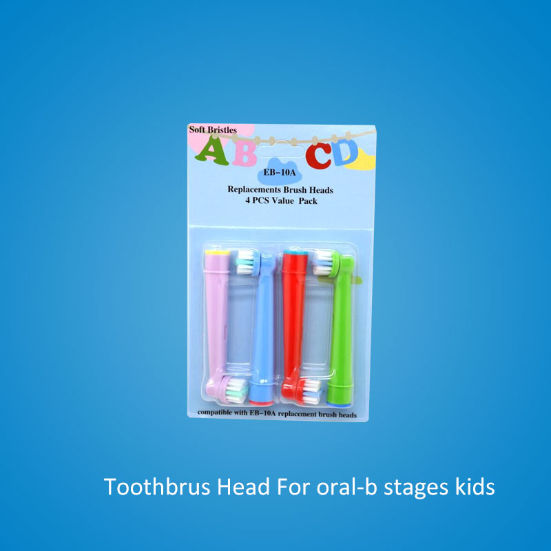 все цены на For oral b children electric toothbrush heads replacement brush heads for oral-b electric stages kids ortho vitality 4pcs/lot онлайн