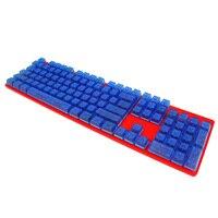 Подсветка переключатель клавиатуры прозрачных светло-передачи 104 ключи ключ Шапки синий/красный замена Шапки для Cherry MX Переключатель клави...