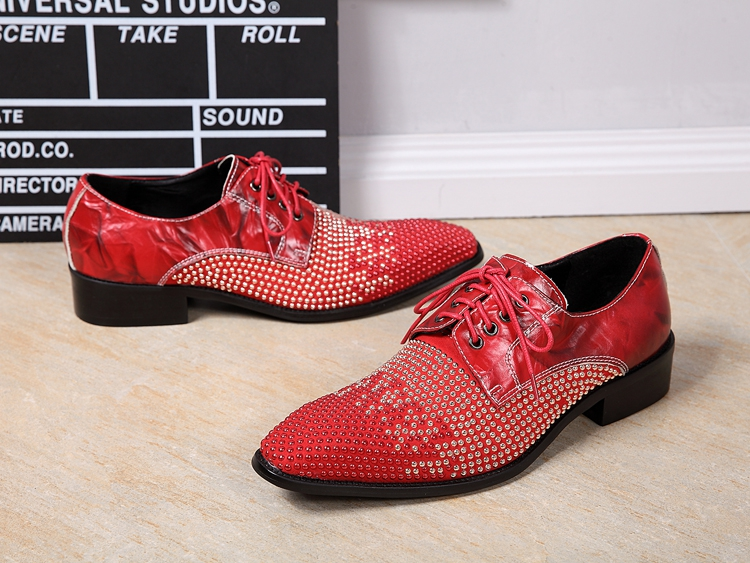 71bab74f67ec Mens Pointed Toe Dress Shoes Platform Oxford Shoes for Men Height Increase  Black Red Rhinestones Wedding Shoes-in Formal Shoes from Shoes on  Aliexpress.com ...