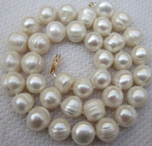 FREE SHIPPING>>>@@ > Hot sale new Style >>>>>10-11MM WHITE SOUTH SEA BAROQUE Thread PEARL NECKLACE 18INCH
