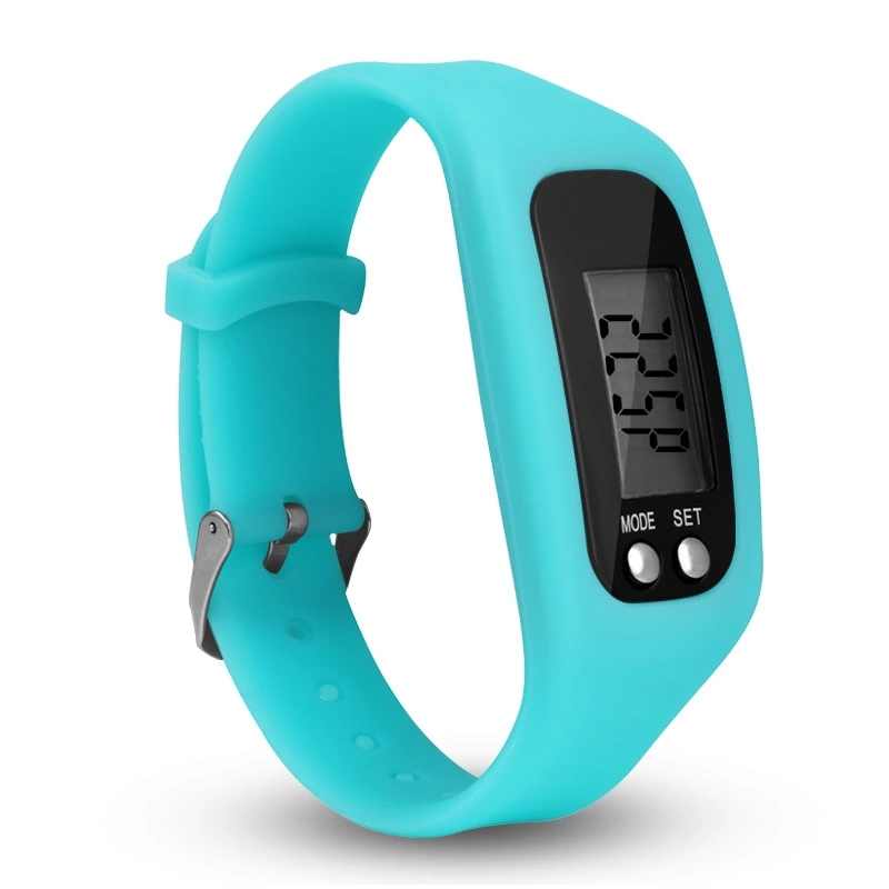 Hot Style LED Smart Fashion Sports Pedometer Bracelet Watch Multi-functional Children's Environmental Protection Silicone Watch