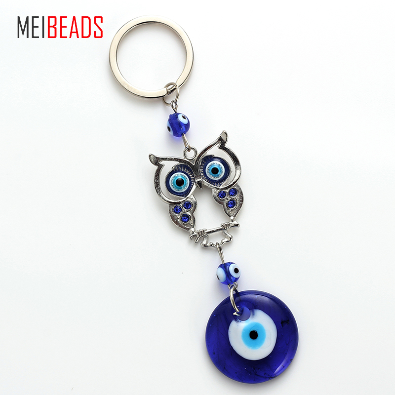 Jewelry Sets & More Key Chains Cheap Sale Meibeads Evil Eye Lucky Owl Pendants Blue Round Eye For Key Decoration Pendants Fashion Accessories Creative Novelty Giftsey4713 Sale Price
