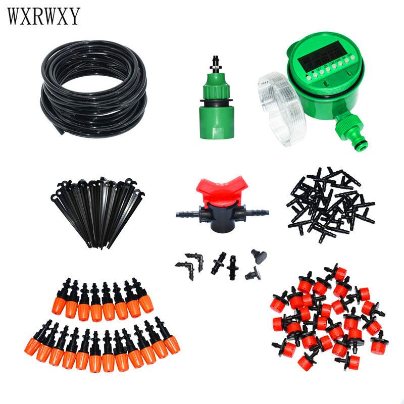 wxrwxy Automatic irrigation system watering kit Drip irrigation system gardening tool kit automatic garden watering 1 set|drip irrigation system|watering kit|drip irrigation - title=