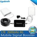 Conjunto completo 4G FDD LTE de 2600 MHz Teléfono Celular Amplificador de Señal Móvil Repetidor 65dB de Ganancia Amplificador Repetidor móvil para el Hogar