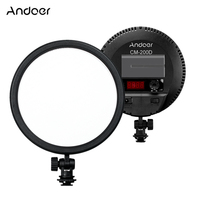 Andoer LED Edge Light CRI93 6 Inch Round Ultrathin Daylight 3200K 5600K Bi color Dimmable Photo Video Light Panel