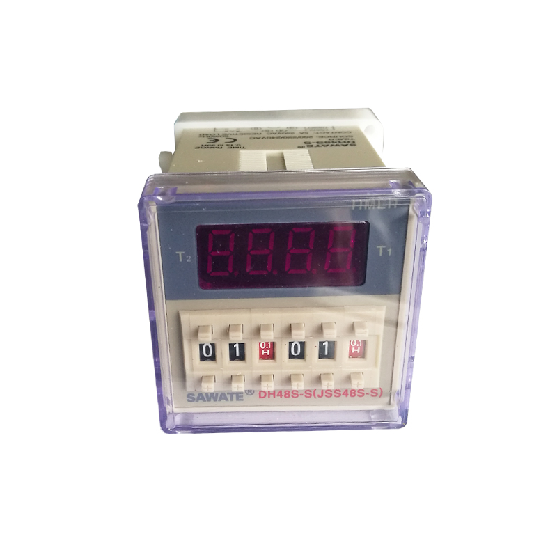 50pcs CE AC 220V DH48S-S Repeat Cycle Time Relay / Tmer with socket zys48 s dh48s s ac 220v repeat cycle dpdt time delay relay timer counter with socket base 220vac