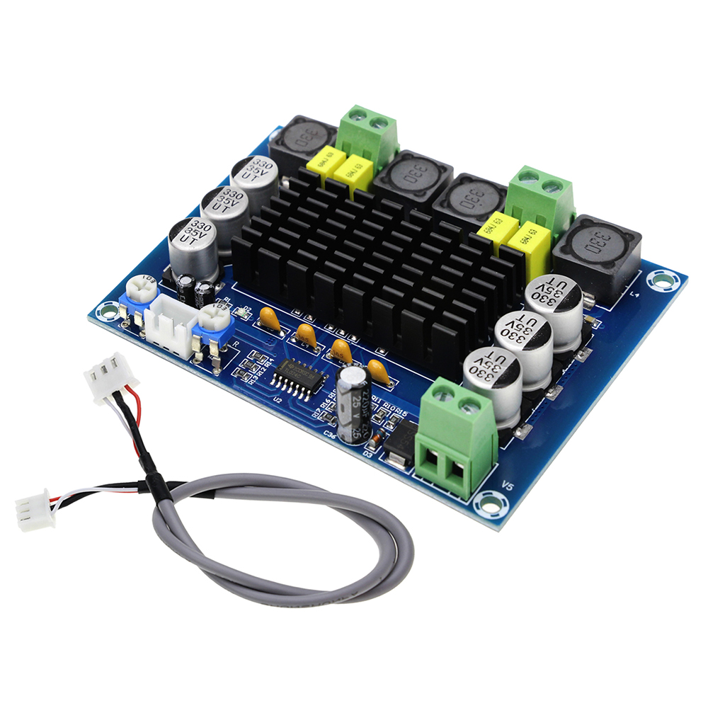XH-M543 DC12-26V Dual-Channel Stereo High Power Digital Audio Power Amplifier Board 2*120W TPA3116D2 XH-M543 DC12-26V Dual-Channel Stereo High Power Digital Audio Power Amplifier Board 2*120W TPA3116D2
