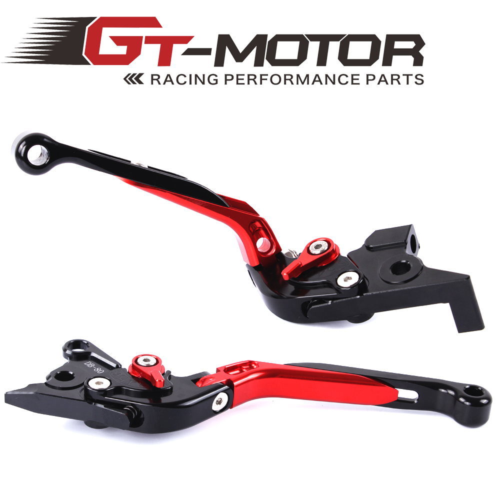 GT Motor - F-16  DC-80 Adjustable CNC 3D Extendable Folding Brake Clutch Levers For MOTO GUZZI Breva 1100 NORGE 1200/GT8V cnc short clutch brake levers for moto guzzi griso breva 1100 norge 1200 gt8v