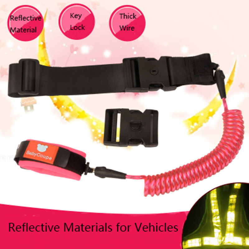 children anti lost belt kids outdoor safety walking harness wrist strap  leash traction rope baby anti lost hand ring key lock -in harnesses &  leashes from