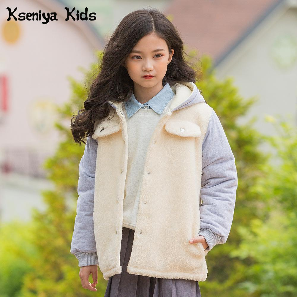 Kseniya Kids 2018 Winter New Big Girl Children's Girls Warm Thick Coat Jacket Winter Coat Girl Down Jacket For Girl steel d big girl
