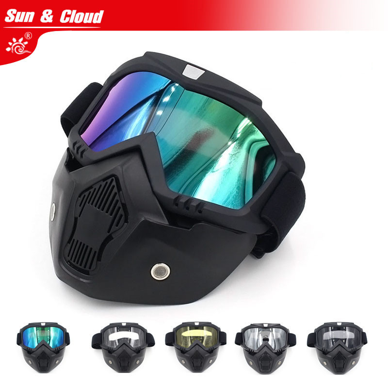 Sun & Cloud Retro Harley Tactical Mask Harley Goggle Glasses Multi Colors For Nerf Toy Gun Game Rival Ball Outdoor CS