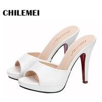 free shipping spring summer slipper women sexy slides high quality supper high platform high heels up 10cm peep toe shoes