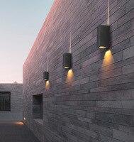 IP65 85-265 V Extérieure Moderne décor Up Down 6 W LED Applique Murale Luminaire Étanche Extérieur Du Bâtiment porte Balcon Jardin Cour