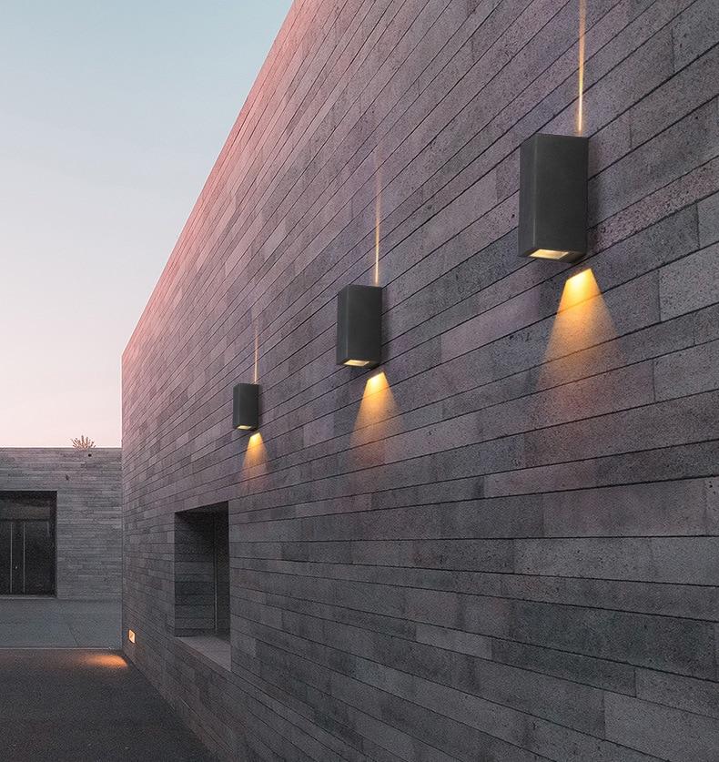 IP65 85-265V Outdoor Modern decor Up Down 6W LED Wall Sconce Light Fixture Waterproof Building Exterior Gate Balcony Garden Yard