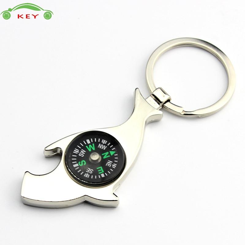 Shark Fish Compass Car Keychain Auto Motorcycle Key Chain Bag Pendant For Mazda Subaru Holden Hyundai Volvo Yamaha Audi Keyring