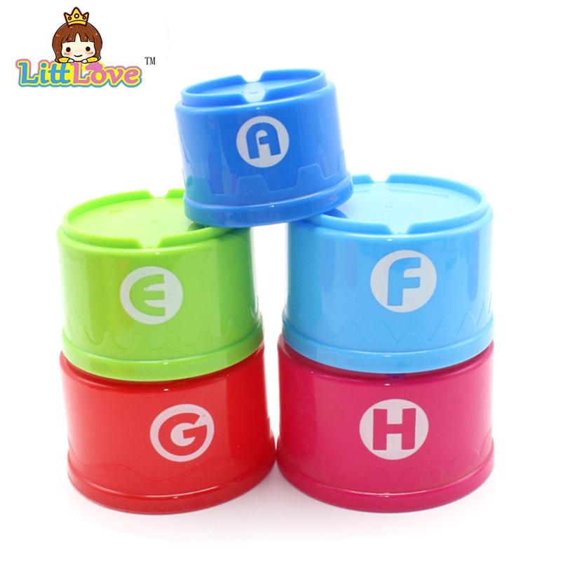 LittLove 9Pcs / Set Toy Bayi Lucu Pendidikan Pembelajaran Kecil Jenga - Mainan pembinaan - Foto 4