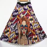 BONJEAN Long Skirt Girl Female Pleated Skirt Women for Girls