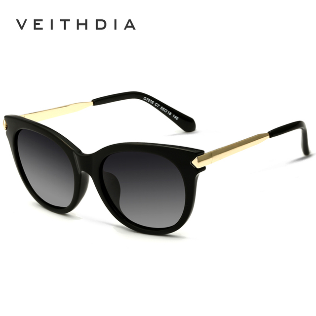 Tr90 retro grandes óculos de sol óculos polarizados mulheres cat eye senhoras designer mulheres óculos de sol ao ar livre óculos acessórios femininos 7016