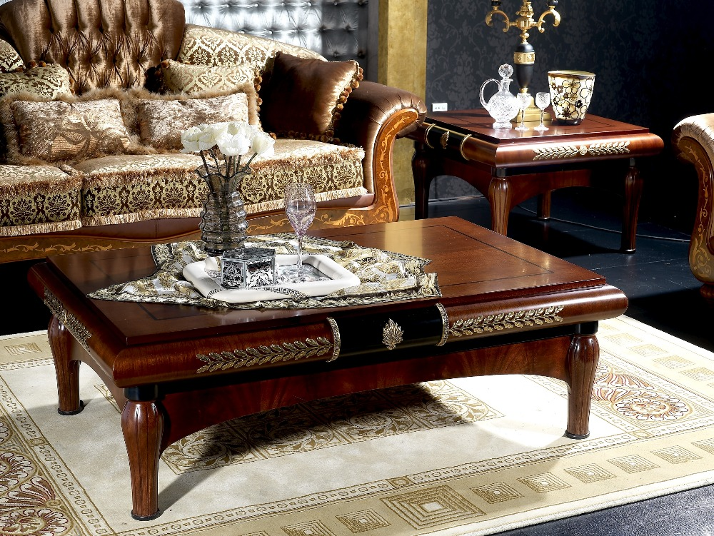 classical contemporary style solid wood and glass rectangle coffee table in coffee tables from. Black Bedroom Furniture Sets. Home Design Ideas
