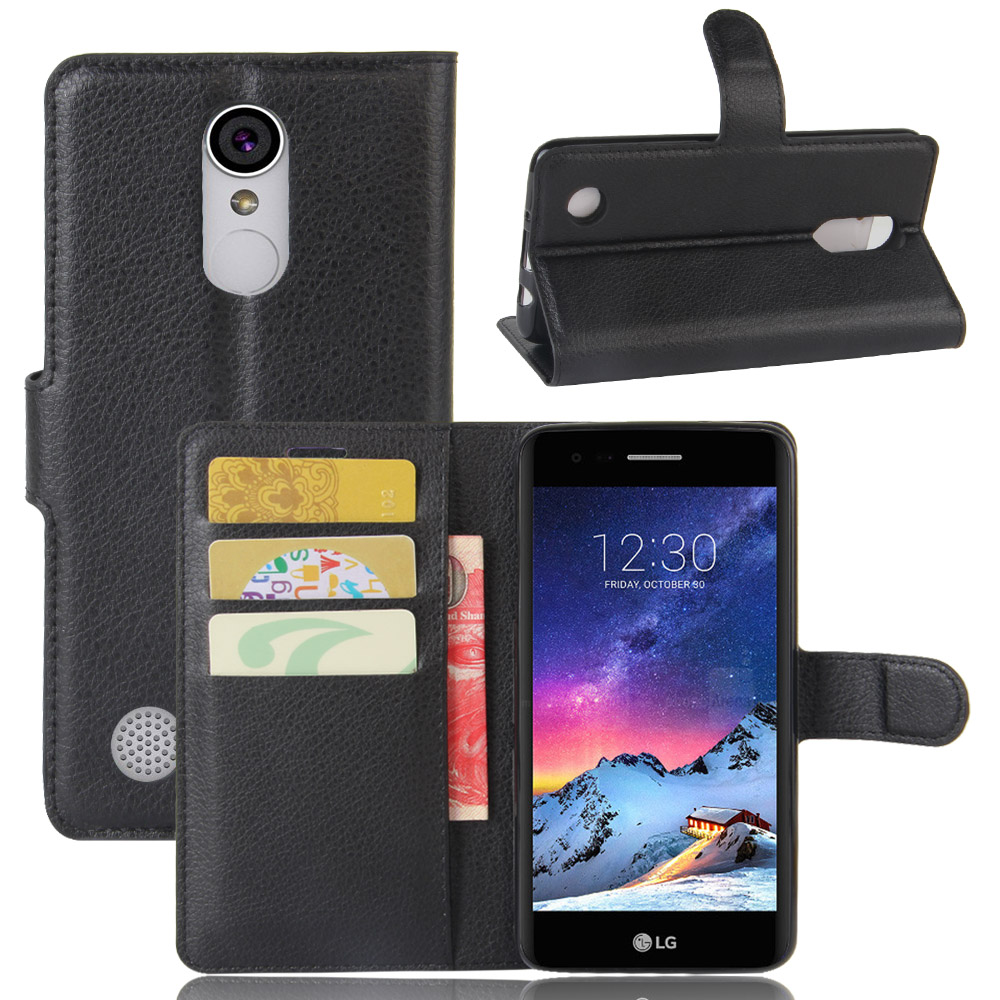 For LG K10 2017 US Case 5.3 inch Luxury Wallet PU Leather Case FOR LG K20 Plus LV5 Stand Flip Card Hold Phone Cover Bags