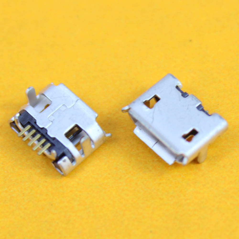 Cltgxdd For Mini MicroUSB Jack Socket Connector,5 Pin Small Ox Horn