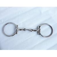 Stainless Steel Horse Bit Hollow Jointed Mouth With Hooks And Curb Chain H0805