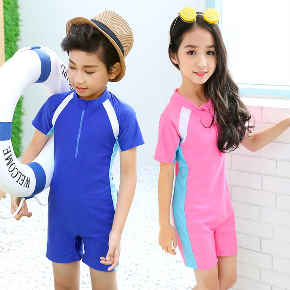 Boys Girls Clothes Summer Swimsuit Childrens Sports Suit Quick Dry Tracksuit for with Zipper