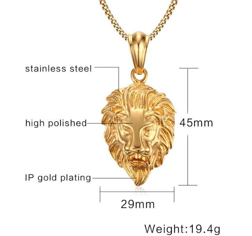 men's lion pendant - 739×739