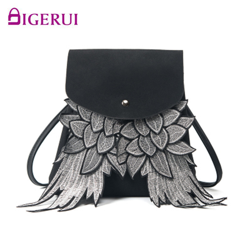 DIGERUI Fashion 2019 Girls Cute Backpack Woman Wing Design School Bag Boys Daypack Shoulder Bag Ladys Purse With Angel Wings
