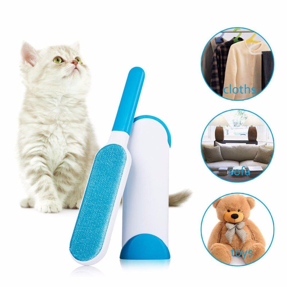 Magic Clean Riutilizzabile Autopulente Pet Hair Brush Set Doppio Sacchetto di Vestiti Lint Remover Pelliccia Scrub Polvere Brusher