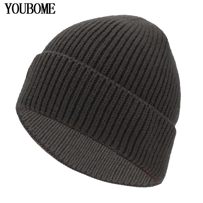 YOUBOME Winter Knitted Hat Men   Skullies     Beanies   Hat   Beanies   For Women Mask Female Cap Gorros Bonnet Warm Soft Winter Hats Caps