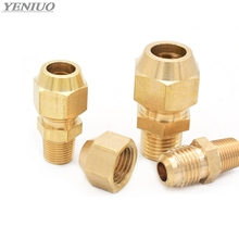 copper Flaring directly connect 1/8 1/4 3/8 1/4 Male Thread brass fitting copper expansion estuary flared Adapter Connector