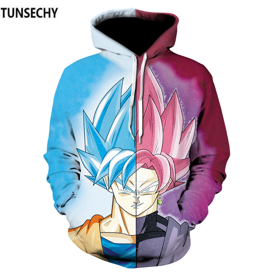 TUNSECHY Brand Men's clothing Dragonball super Isaiah hoodies sun wukong anime Hoodies & Sweatshirts Wholesale and retail