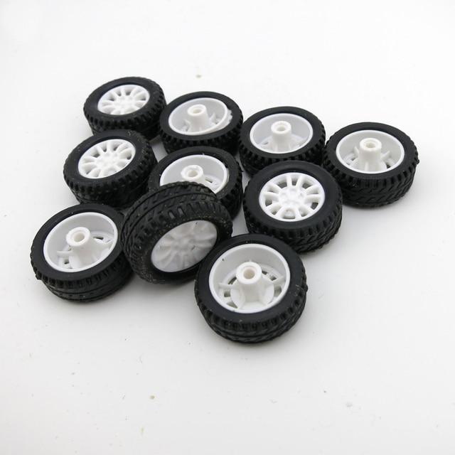 10 Stks/partij RC Model Auto 20mm * 8mm * 1.9mm Mini Wielen Hollow Banden voor DIY Speelgoed accessoires Rubber Banden