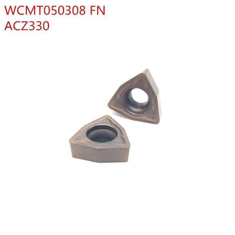 10pcs WCMT050308 FN ACZ 330 Boring  Drill Cnc  Turning Cnc Lathe Tools Wcmx050308
