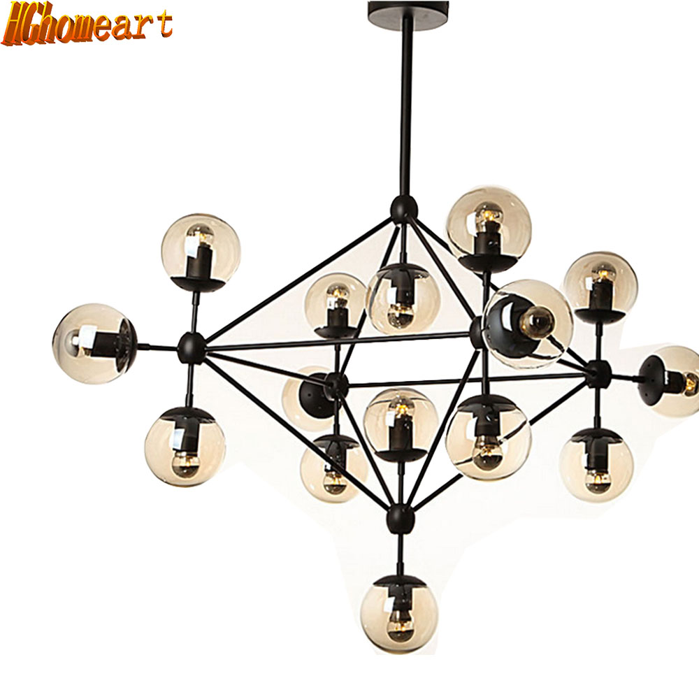 HGHomeart Nordic Magic Beans Chandelier LED Retro Luster Suspension Classic Chandeliers on The Ceiling Living Room Lighting