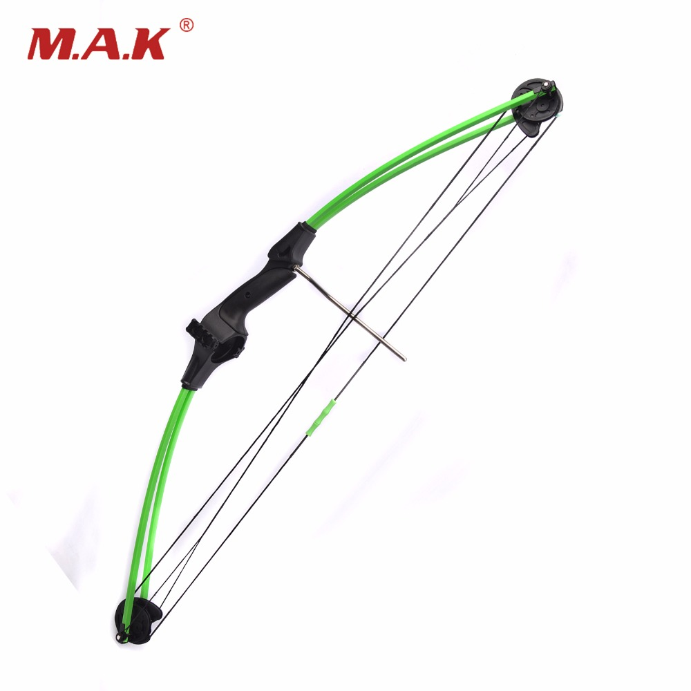 Draw weight 15lbs 34 inch length High Quality Fiberglass Children Compound Bow in Black Green Color for Hunting Shooting Archery hot sale children compound bow draw weight 8 12 lbs for archery practice competition games bow target hunting shooting