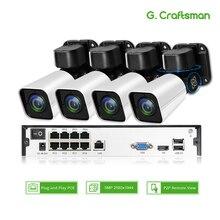 4ch 5MP poe ptz комплект H.265 Системы видеонаблюдения 8ch NVR открытый Водонепроницаемый 2,8-12 мм 4X Оптический зум IP Камера видеонаблюдения