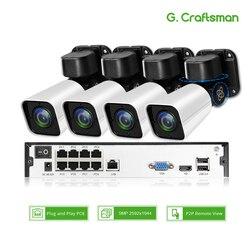 4ch 5MP POE PTZ Kit H.265 a CIRCUITO CHIUSO del Sistema di Sicurezza 8ch NVR Esterna Impermeabile 2.8-12mm 4X Zoom Ottico IP Telecamera di Sorveglianza Video
