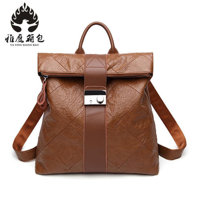 Backpack Female Genuine Leather Women Backpacks School Bag Multifunctional Leather Back Pack On Shoulder hot sale women s backpack the oil wax of cowhide leather backpack women casual gentlewoman small bags genuine leather school bag