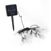 20 LED Ghost Solar String Lights With Solar Panel Waterproof Outdoor Halloween Christmas Home Parties Garden