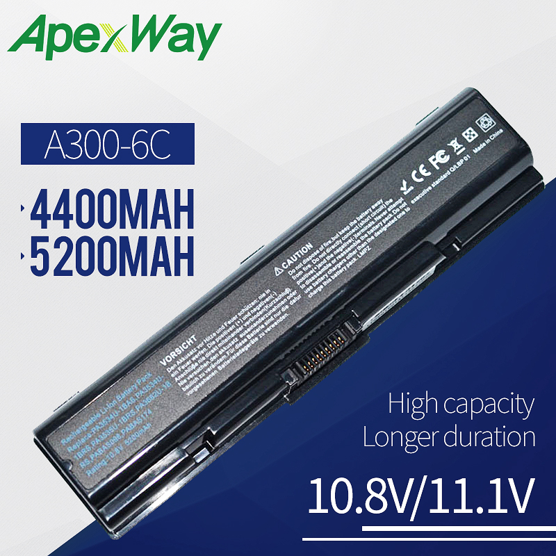 4400mAh laptop battery for <font><b>Toshiba</b></font> Satellite Pro A300D L300 L300D L350 L450 L450D <font><b>L500</b></font> L500D L550 Dynabook TX TV/68 L300 Series image