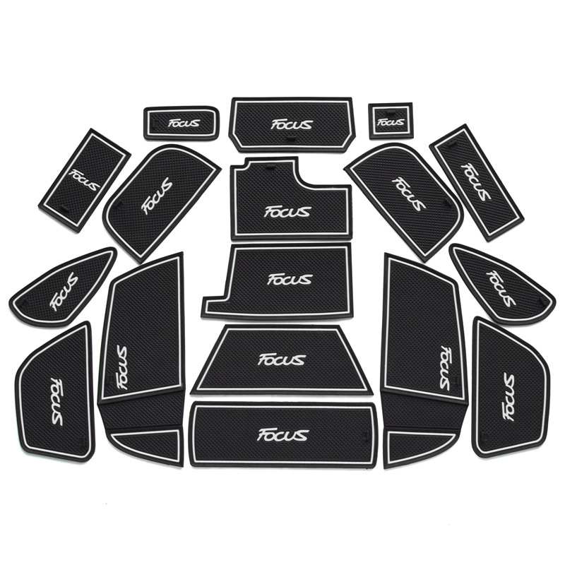 New 17pcs Gate Slot Mats For Ford Focus/RS/ST 2015 2017