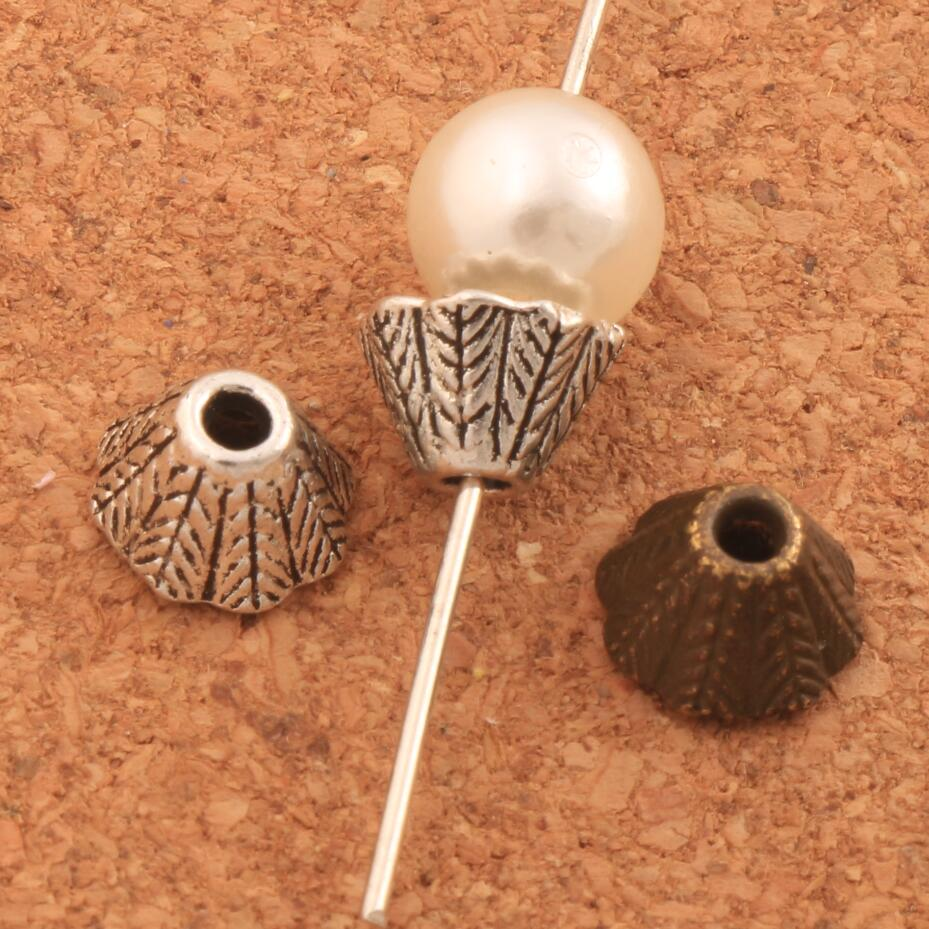 Cone End Caps Bead Cap Jewelry Findings Components L1046 55pcs 8x8.6mm Antique Silver/Bronze Alloy