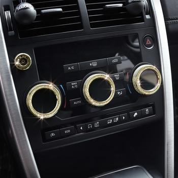 lsrtw2017 diamond car air conditioner sound knob trims for land rover discovery sport 2014 2015 2016 2017 2018 2019