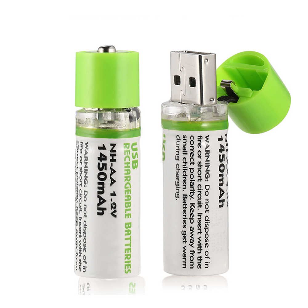 1Pcs AA Battery Nimh AA 1.2V 1450MAH Rechargeable Battery NI-MH USB AA 1450MAH