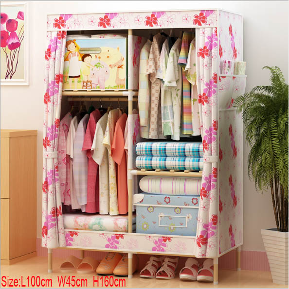 Factory Price Solid Wood Wardrobe  length 100 cmFactory Price Solid Wood Wardrobe  length 100 cm