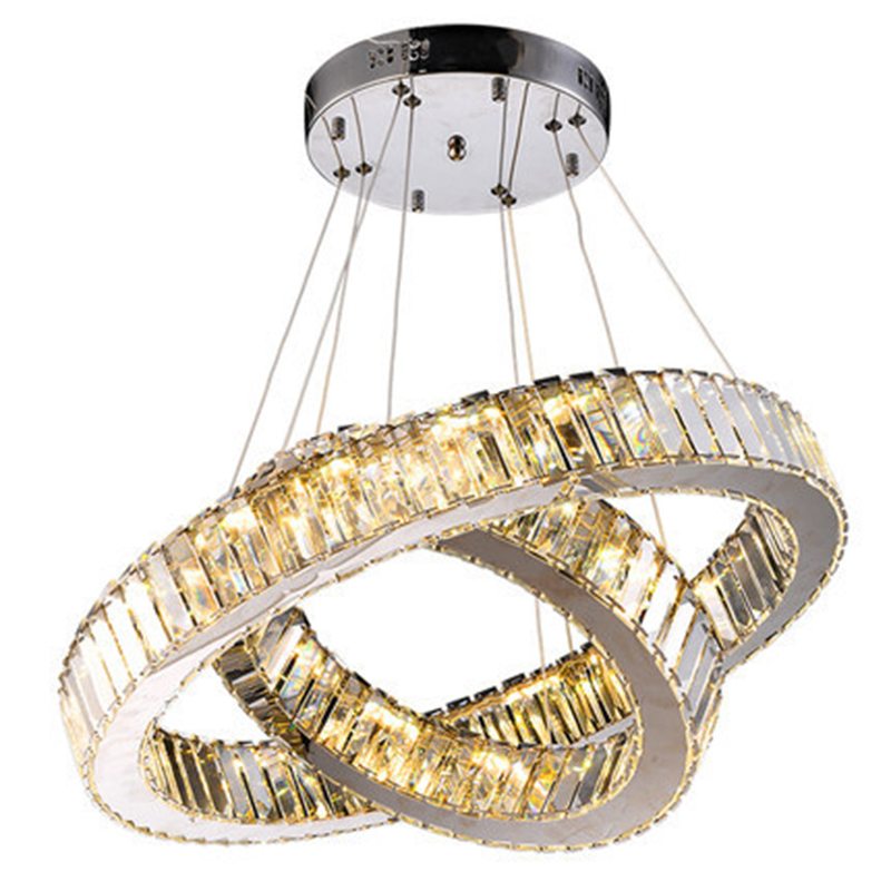led ring pendant light crystal modern pendant lamp lights for home lighting living room lamps led crystal circle hanging fixture Modern Crystal Pendant Light LED Circle Ring Round Suspended Crystal Lamp for Living Room Bedroom Hotel Bar Stores Hanging Light