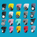 Topsniper 360 Replacement Luggage Wheels Suitcase Colorful Spinner Universal Wheel Luggage Repair Parts W041